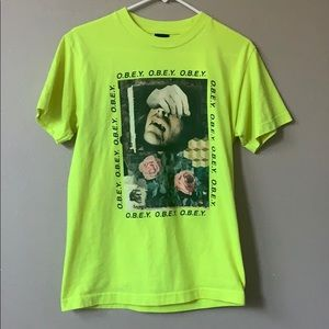neon OBEY t-shirt